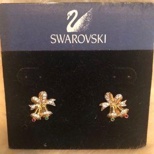 Swarovski 💚 Crystal Christmas Bell Earrings